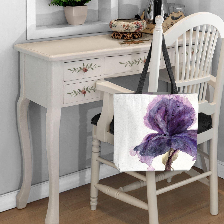 Purple Iris DiaNoche Designs Tote Shoulder Bags by Dawn Derman