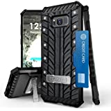Spots8 Galaxy S8 Plus S8+ Case, Dual Layer Hybrid Armor Rugged Full Body Bumper Protection Phone Cover With Built in kickstand Card Slot Screen Protector Phone Strap Tire