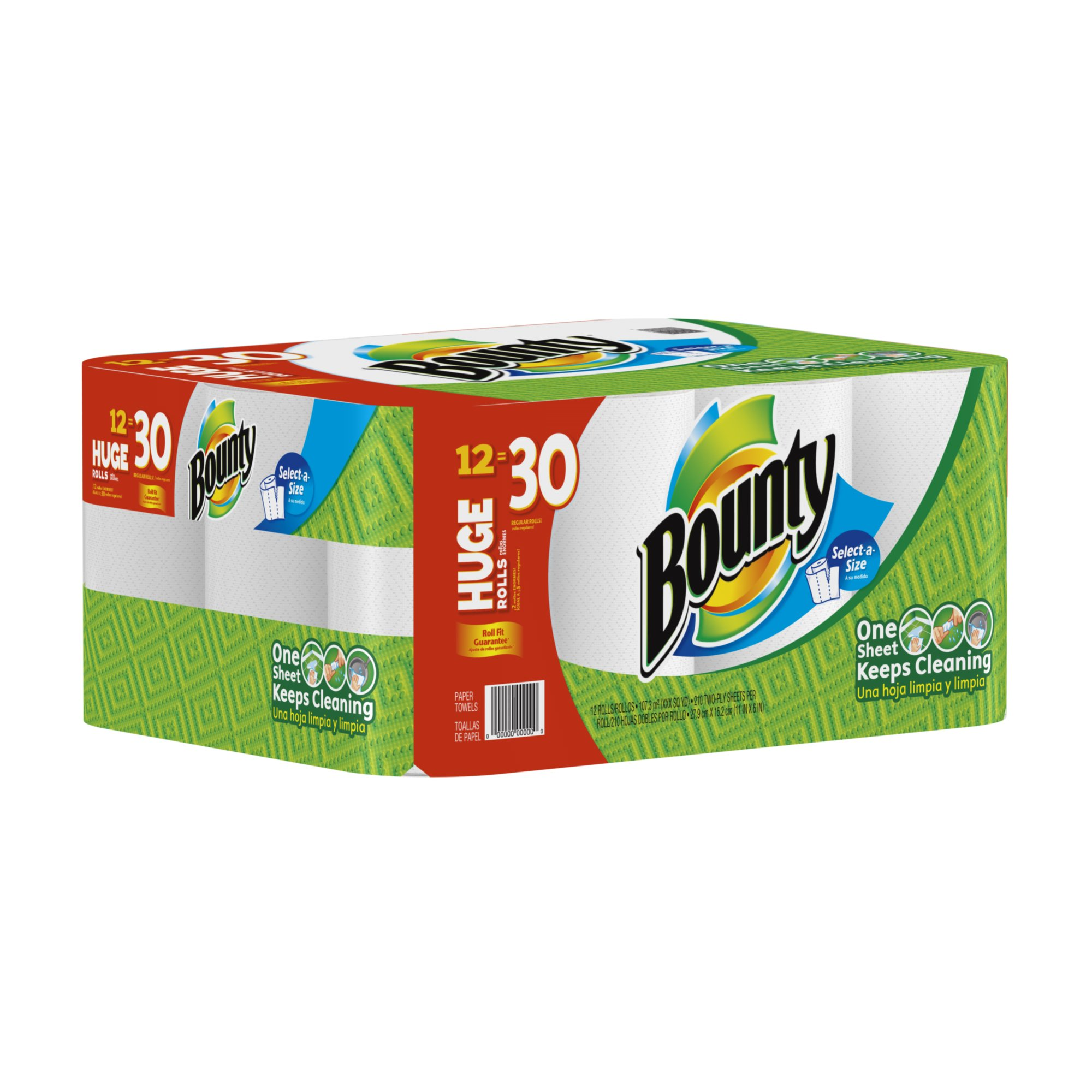 Bounty Huge Roll, White, 12 Count by Bounty