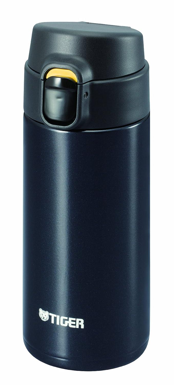 TIGER Edelstahl Mini-Flasche <Saharamagu> Leichtschwerkraft ein Traum Push 0.36l Schwarz MMY-A036-KP (Japan-Import)