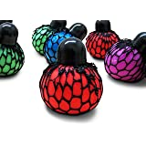 12 pc (1 dozen ) Mesh Squishy Stress Relief Balls Tear-Resistant Non-toxic, birthday party favors , For Kids & Adults For Autism, ADHD, Bad Habits By Dazzling Toys