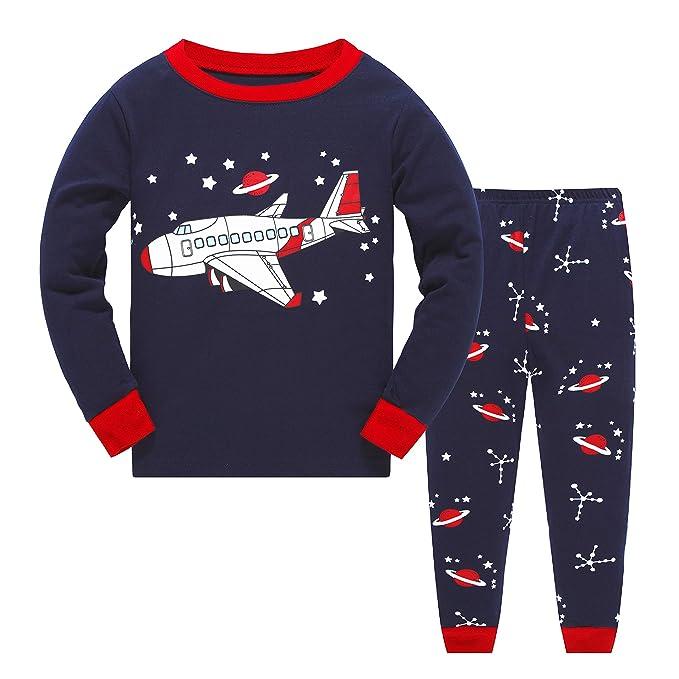 286f8b5b3e6 Qzrnly Kids Christmas Pyjamas Sets Baby Boys Girls Cotton Pjs Xmas Sleepwear  T Shirts Tops   Pants Pajamas Sets Nightwear Homewear Outfit Age 2 to 8  Years