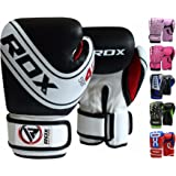 RDX Kids Boxing Gloves for Junior Muay Thai Training - 6oz, 4oz Children Kickboxing Punch Bag Mitts - Great for Focus Pad Punching, Sparring, Fighting and MMA – Padded Maya Hide Leather Boys Gloves