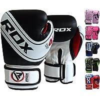 RDX Kids Boxing Gloves Maya Hide Leather 4oz, 6oz Junior Punch Bag MMA Training Muay Thai Mitts