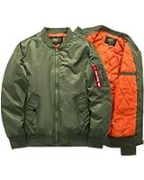 DSGgrergr New Men Spring Autumn Jackets Baseball Coat Mens Clothing Outerwear Air Force Jacket MA-