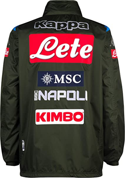 Italian Serie A SSC NAPOLI Mens Wind Jacket Green