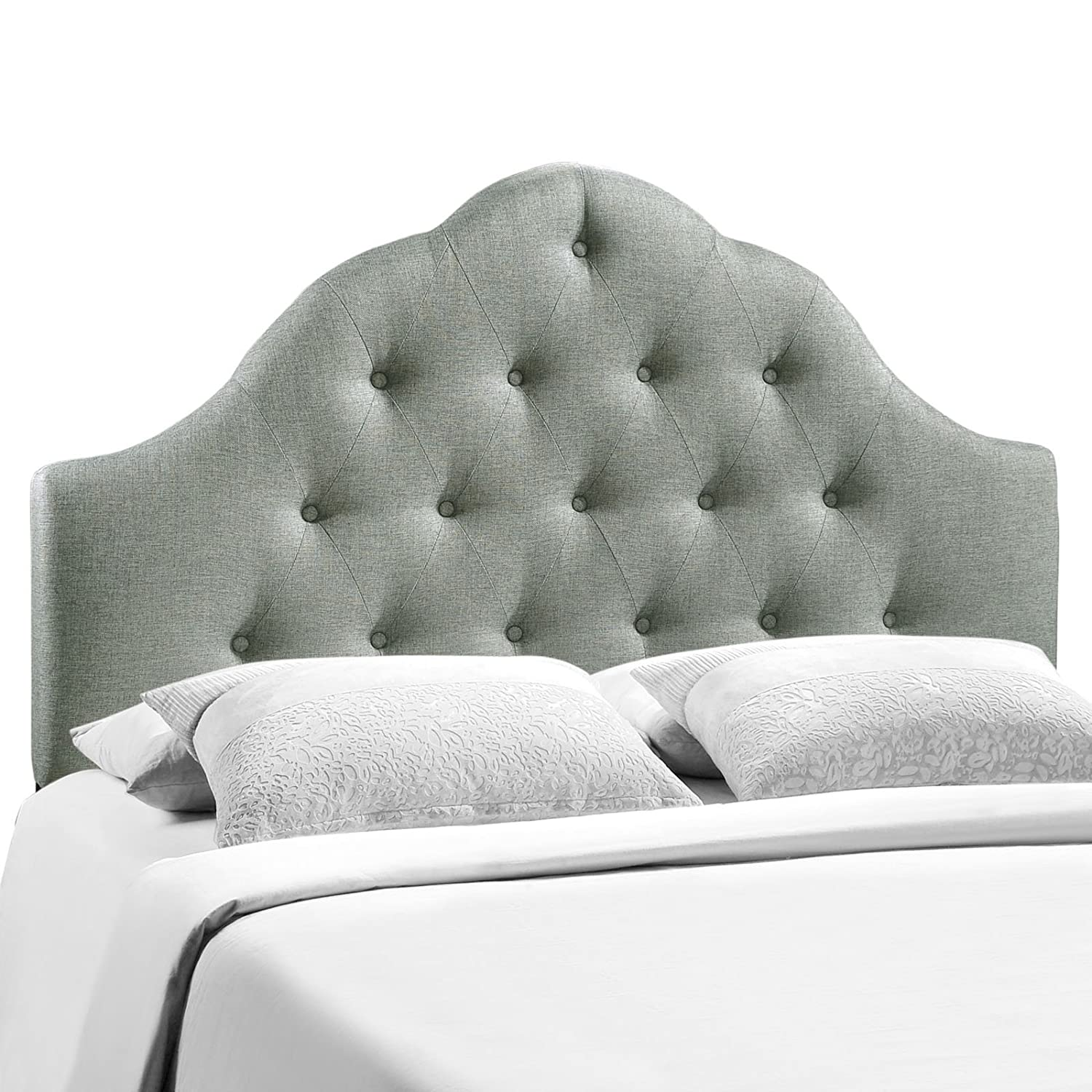 Amazon.com - Modway Sovereign Upholstered Tufted Button Fabric Headboard  King Size In Gray - - Amazon.com - Modway Sovereign Upholstered Tufted Button Fabric