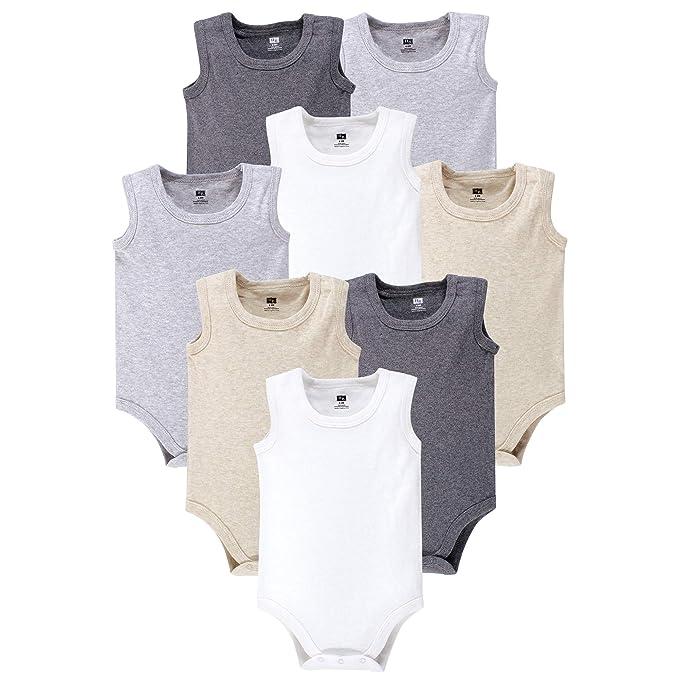 013b24694 Hudson Baby Baby-Girls Baby Sleeveless Cotton Bodysuits, 5 Pack: Amazon.ca:  Clothing & Accessories