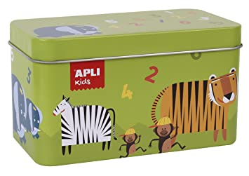 Apli Kids 14556 Animal Dominos Game in Tin Box