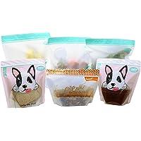ACHub 6pc Stand-up Reusable Food Storage Bags (Reusable Sandwich bag, Reusable Snack bag, Reusable Produce Saver Ziplock…