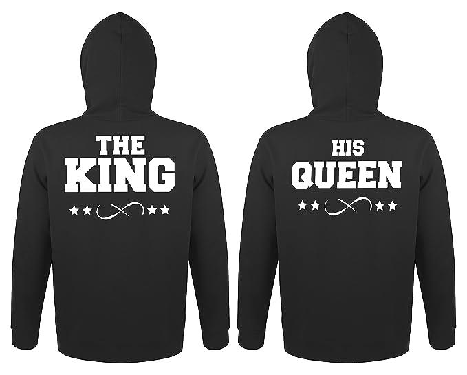 TRVPPY 2X Pareja Suéter Sudadera con Capucha/Modelo The King + His Queen/ para Hombre & Mujer, en Muchos Colores Diferentes/Hooded Sweat Hoodie: Amazon.es: ...