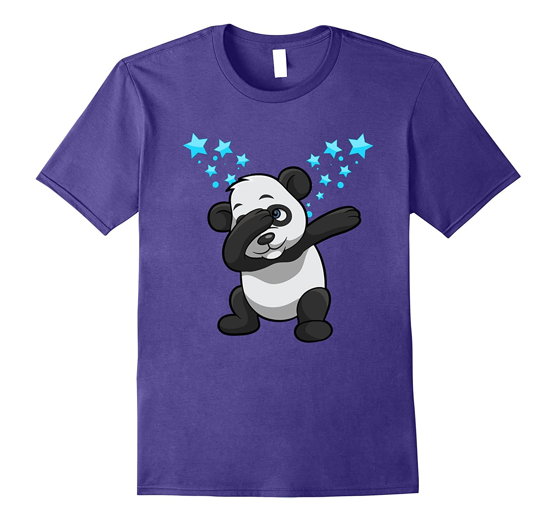 panda dab funny panda bear dabbing stars graphic t shirt cl colamaga. Black Bedroom Furniture Sets. Home Design Ideas