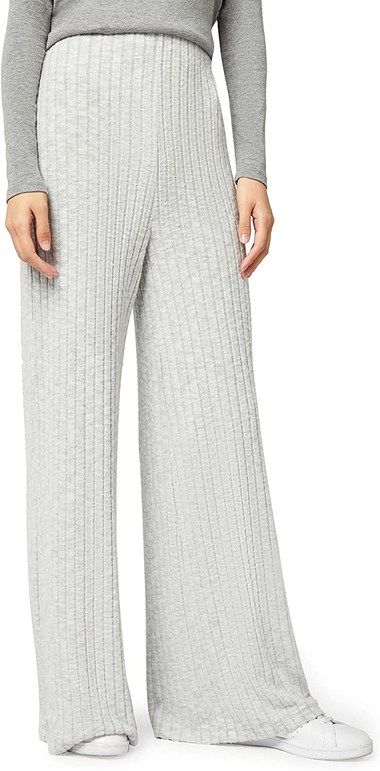 Soft Brushed Textured Wide Leg Marca find Pantalones Mujer