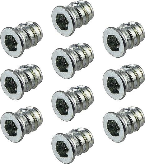 50 St/ück Muffen Einschraubmutter Stahl verzinkt M6 x 15 mm Gedotec Eindrehmuffe M6 Gewinde Einschraubmuffen Metall mit Schraubschlitz