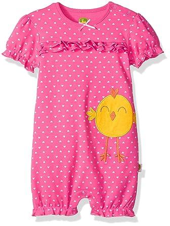 ff05c14435b Amazon.com  John Deere Baby Girls Romper  Clothing