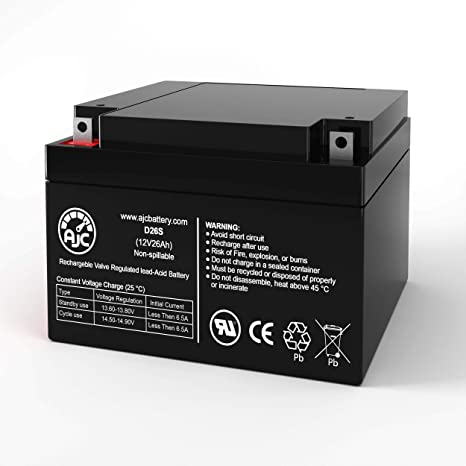 This is an AJC Brand Replacement BB BP26-12 12V 26Ah UPS Battery