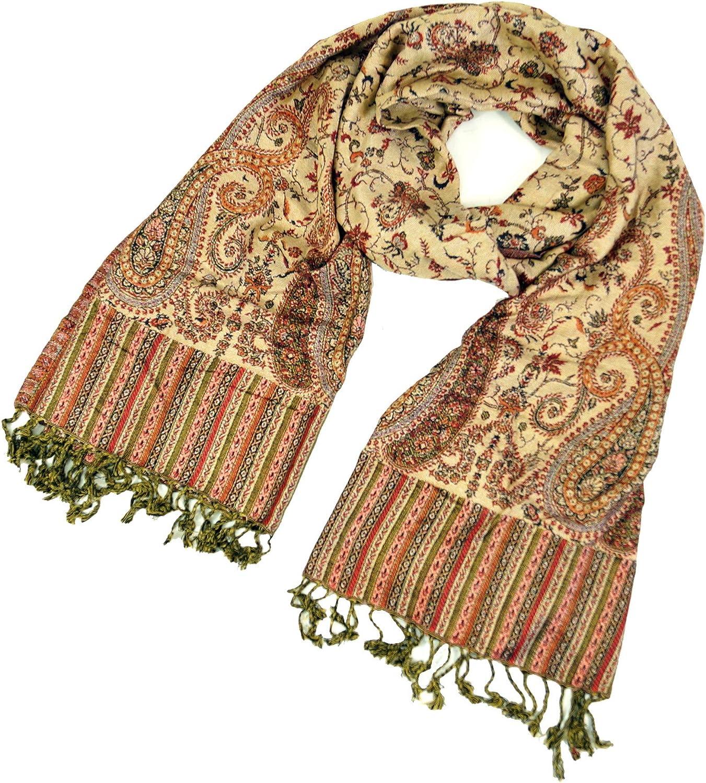 Turchese Sintetico Boho Indiano Stola con Paisley Pattern Dimensione Indumenti:One Size Sciarpe Sciarpa Pashmina-Viscosa Guru-Shop