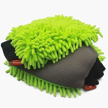Premium Car Wash Mitt Lint Free Lime Green High Density Ultra-soft Microfiber Wash Glove Scratch Free