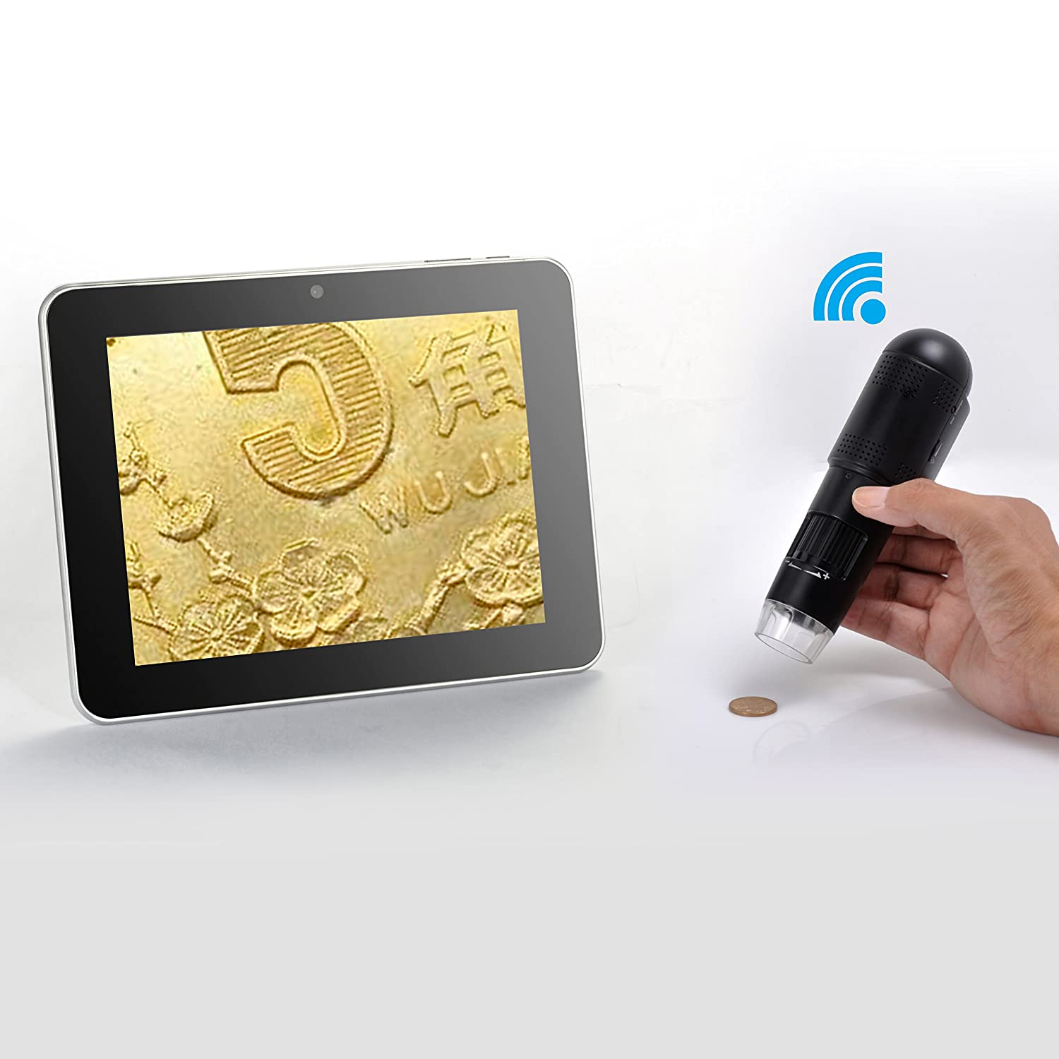 Amazon.com : Mustcam®720P HD Wifi Digital Microscope for iOS/Android ...