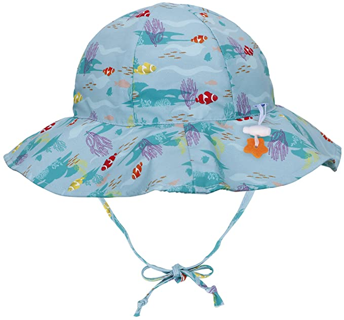 b1f5ba647c3 Amazon.com  Jasmine Kids Printed UPF 50+ Sun Protection Wide Brim Safari Bucket  Hat