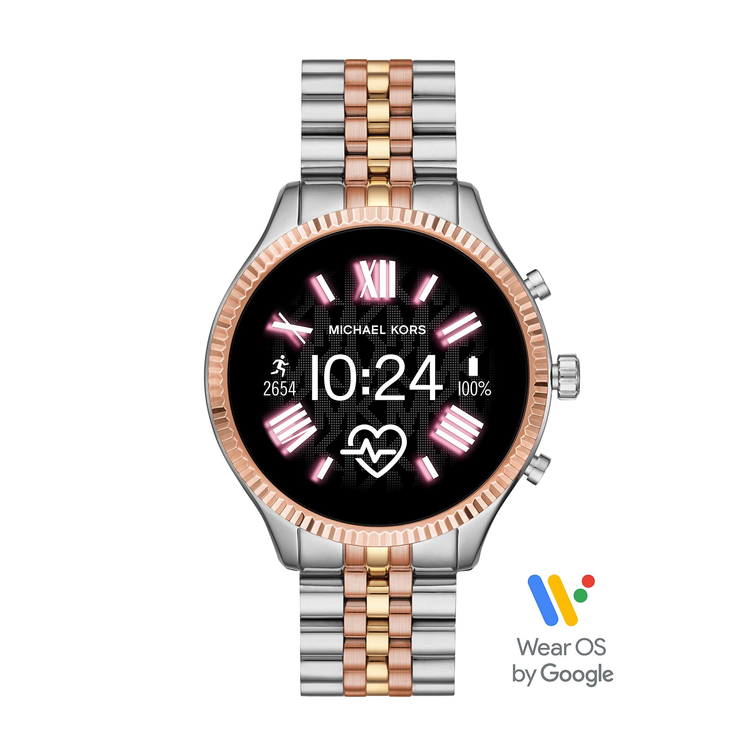 Michael Kors Access Lexington 2 Touchscreen Stainless Steel Smartwatch, Tri-Tone Rose/Gold/silver-MKT5080 by Michael Kors