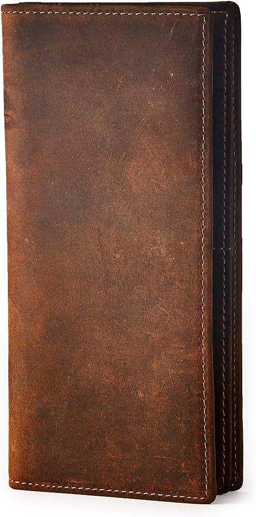 Wallets HOJ Co Men/'s TALL Wallet-Full Grain Leather-LONG WALLET-Men/'s Long Mens