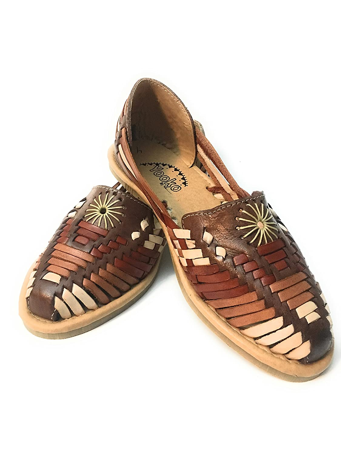 Women\u0027s Original Mexican Huarache Sandals. Closed Toe Leather Sandals