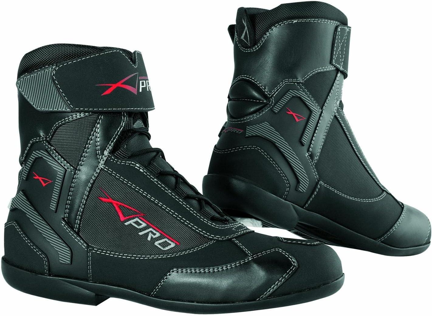A-PRO wasserdichte Schuhe Motorrad Stiefel Sport Touring Roller Schwarz 42