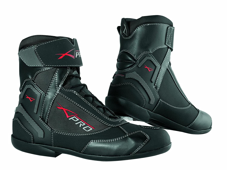 Chaussures Impermeables Cuir Tissu Moto Motard Sport Touring Antipluie noir 44 A-PRO 5180000072988