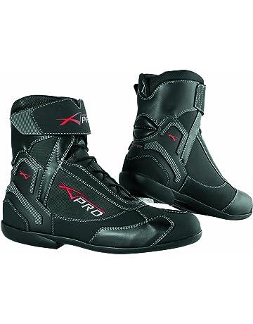 A-pro Bottes de moto d hiver en cuir, respirable imperméable, Noir dbe8adf47b7c