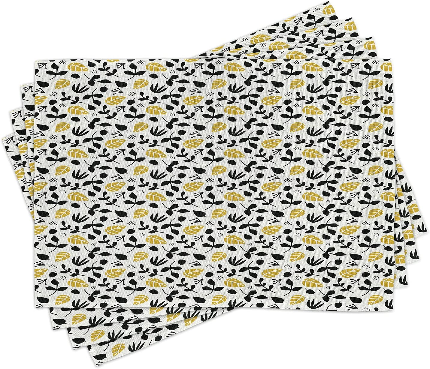 Amazon.com Ambesonne Acorn Place Mats Set of 9, Repeating ...