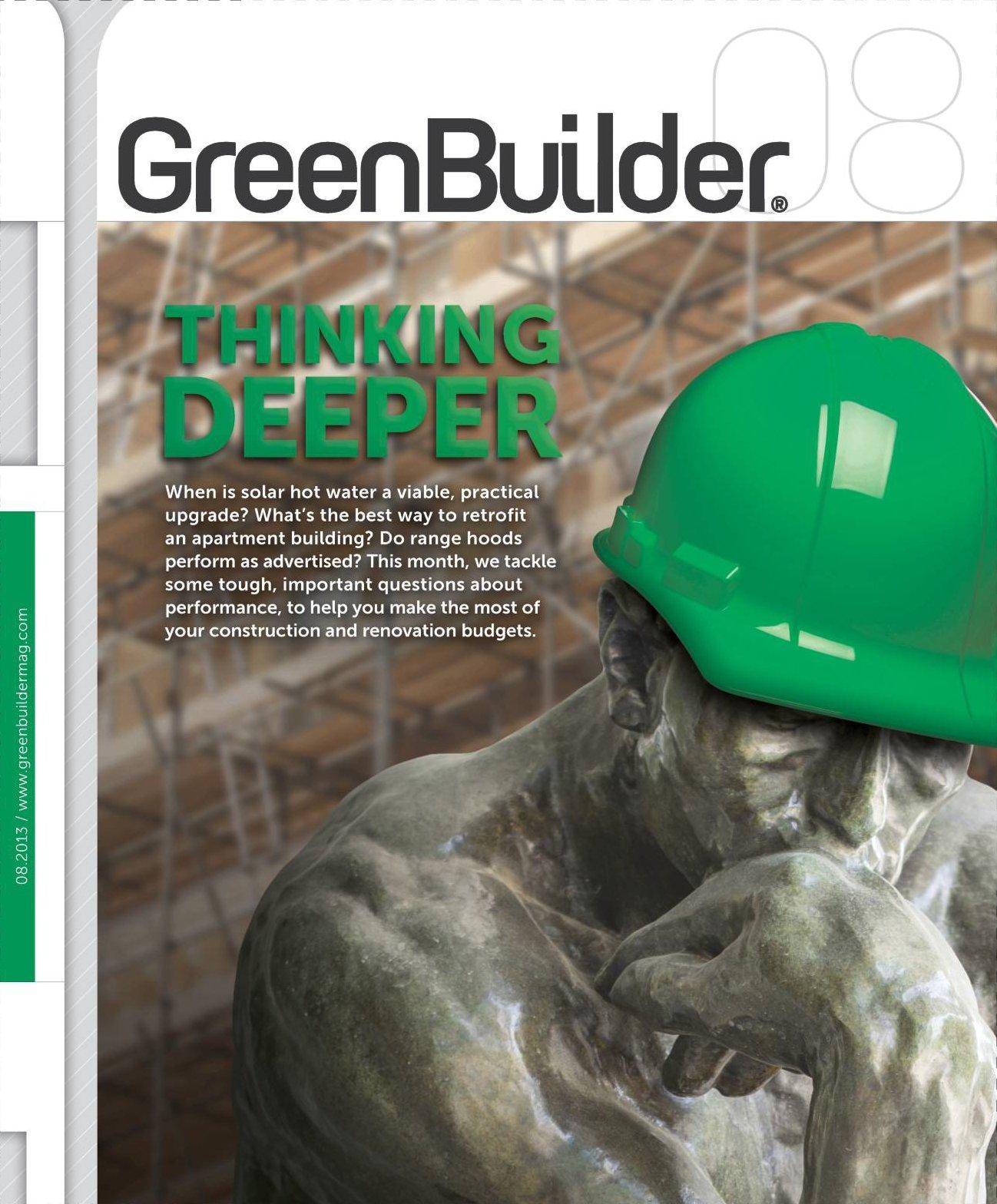 Green Builder Magazine - August 2013 ebook