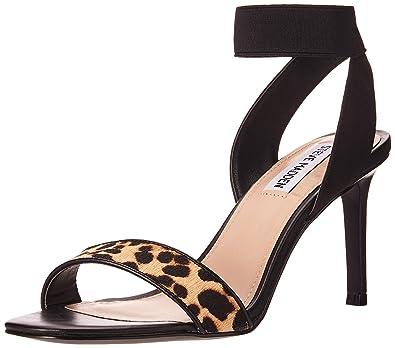 6793d3eaab Steve Madden Sandalo FNDU LEOP Multi Nero: Amazon.co.uk: Shoes & Bags