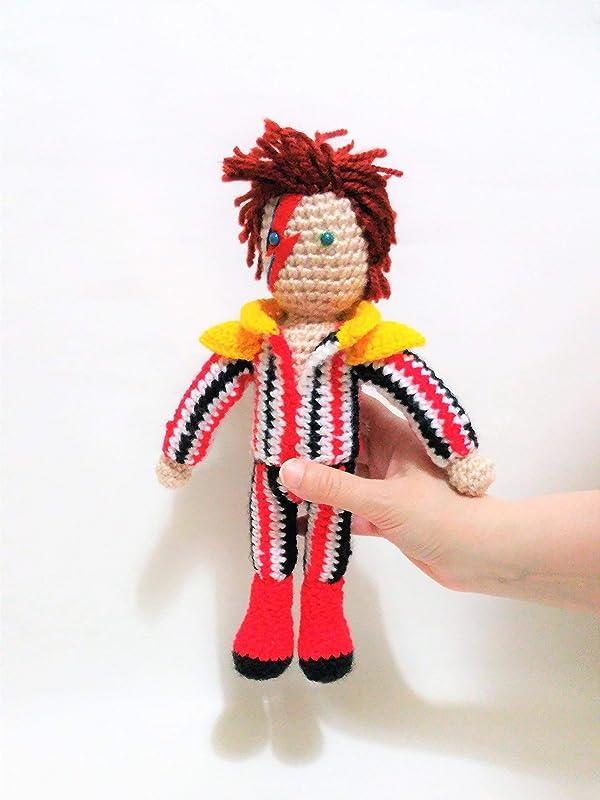 David Bowie de amigurumi 23 centimetros: Amazon.es: Handmade