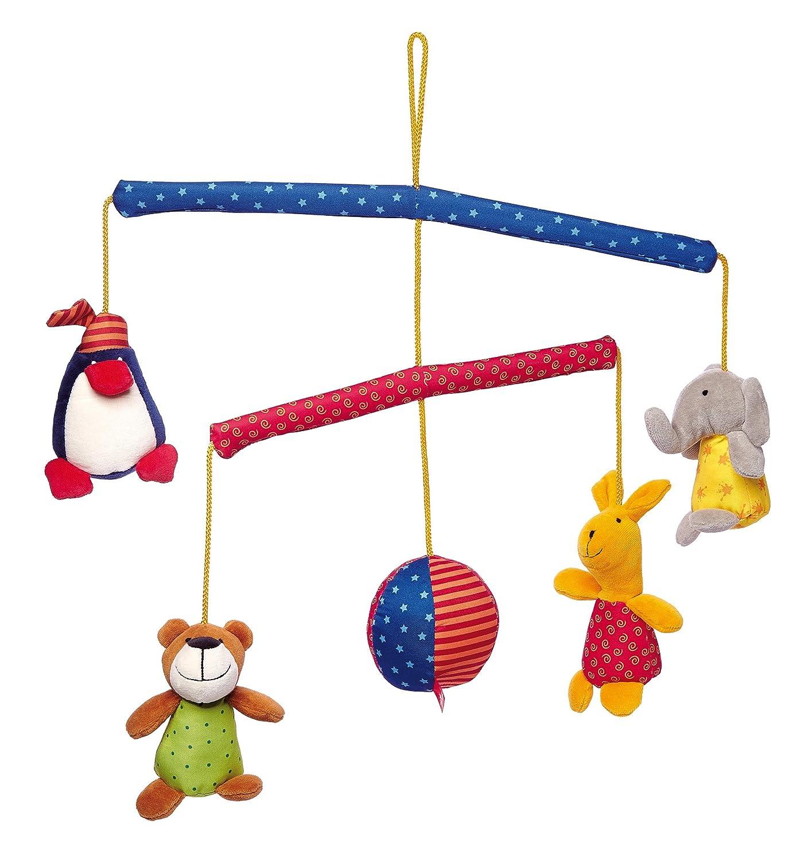 Sigikid, Mädchen und Jungen, Mobile mit Tieren, PlayQ, Bunt, 49543 Mädchen und Jungen Erstes Spielzeug / Mobiles Sonstige Textile Artikel Textilien