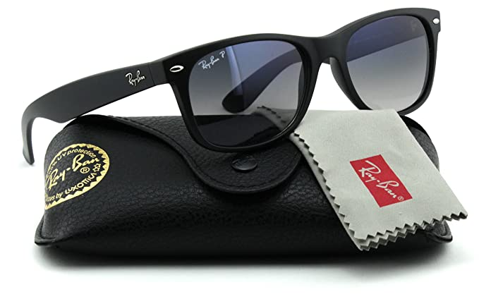 33d390f94b Image Unavailable. Image not available for. Colour  Ray-Ban RB2132 601S78 Wayfarer  Black   Polarized Blue Gradient Lens 52mm