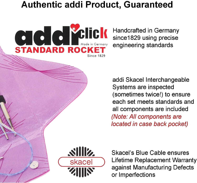 Addi Cliquez sur dentelle interchangeables circulaire aiguille à tricoter Set