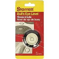 "Starrett BE-1 Acrylic Circular Bullseye Level with Flange, 1.180"" Diameter, Black"