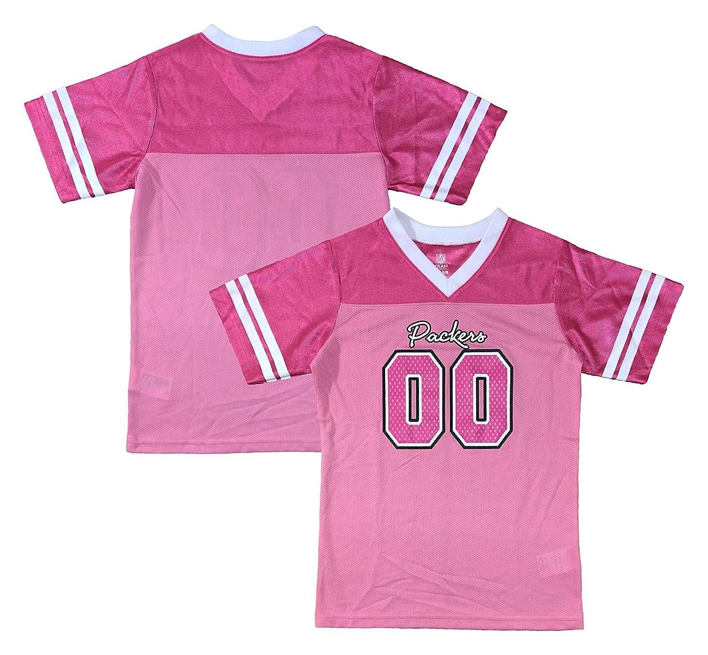 free shipping 6ce60 1de6b Amazon.com: Green Bay Packers Logo #00 Pink Dazzle Girls ...
