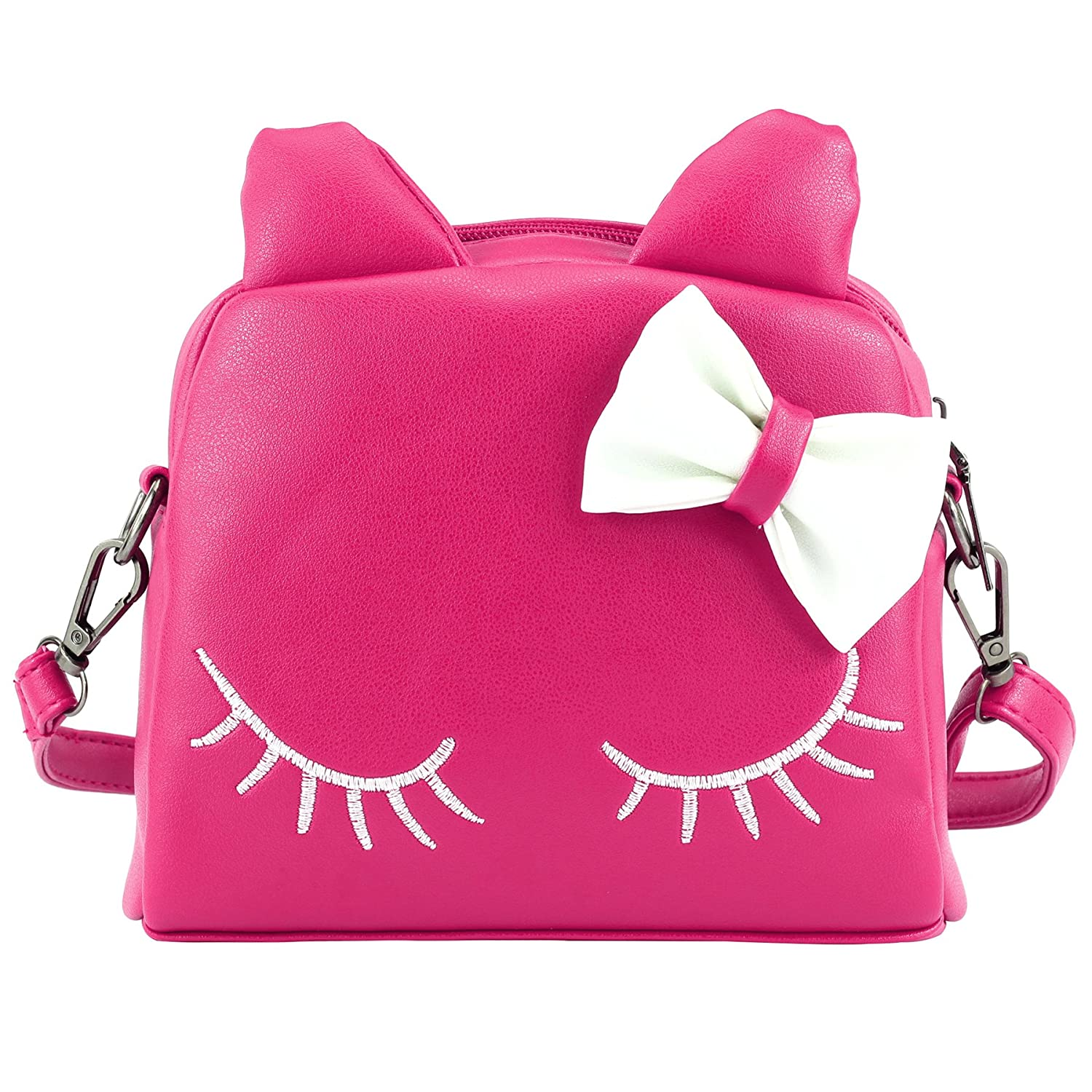CMK Trendy Kids Cute Little Girls Cat Purse for Toddler Kids Mini Backpack Bags with Bows