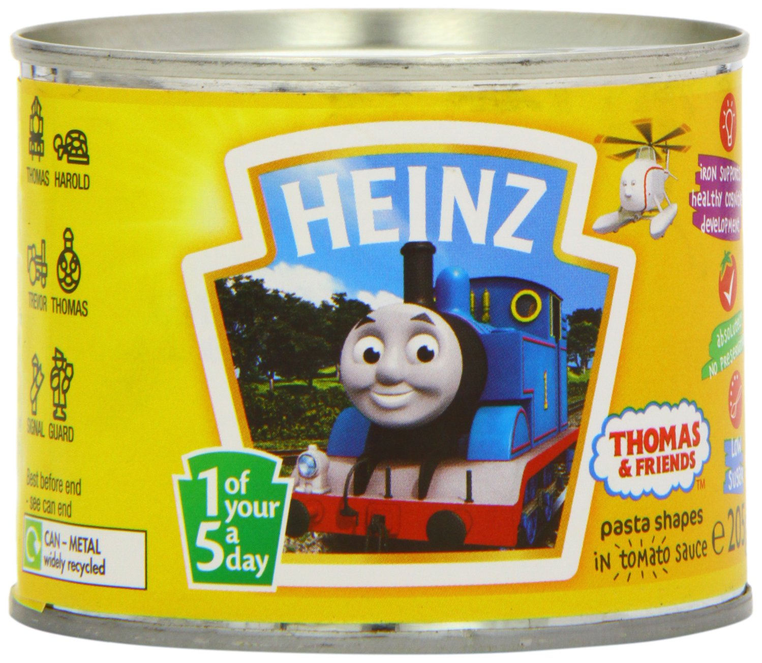 Heinz Thomas and Friends Pasta Shapes in Tomato Sauce, 205 g (Pack of 12)