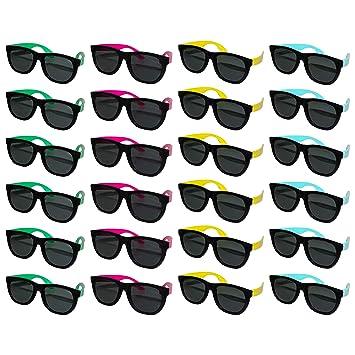 BELLE VOUS Gafas de Sol Negras (Pack de 24) - Gafas Plástico ...