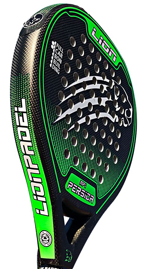 Pala Padel Lion PERSICA MP1 Power Green: Amazon.es: Deportes y ...
