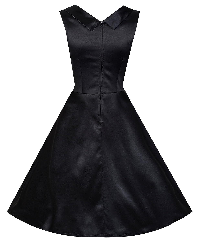 Lindy Bop - Vestido - Noche - Sin mangas - para mujer negro: Amazon.es: Ropa y accesorios