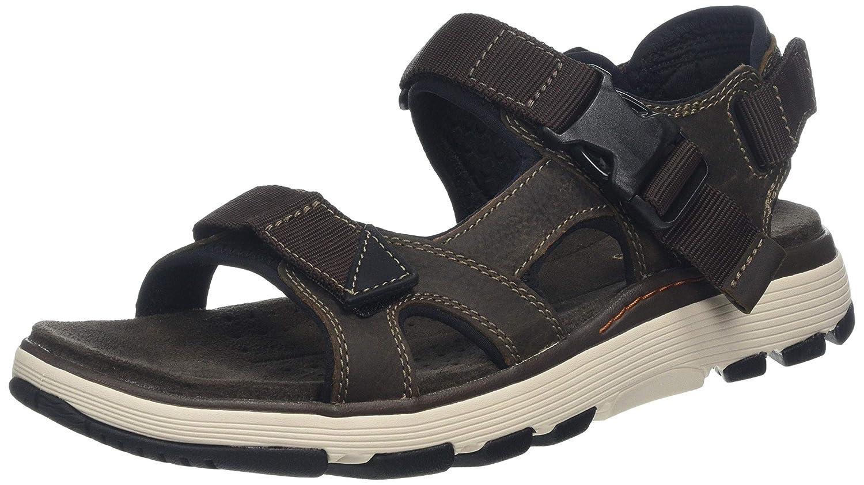 8905ef196dea Clarks Men s s Un Trek Bar Sling Back Sandals Olive  Amazon.co.uk  Shoes    Bags