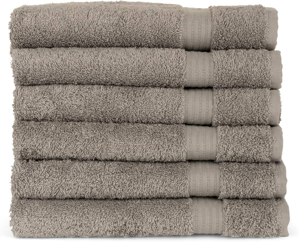 TowelSelections Sunshine Collection Soft Towels 100% Turkish Cotton 6 Hand Towels Paloma Gray