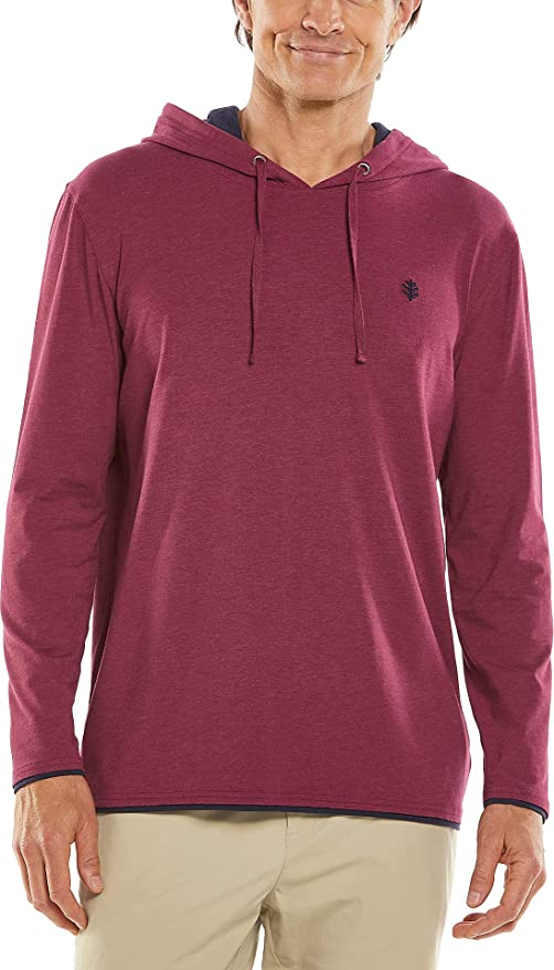 Coolibar UPF 50+ Men's Oasis Pullover Hoodie Sun Protective