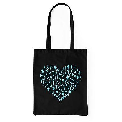 LaMAGLIERIA Bolsa de tela Yoga Heart - tote bag shopping bag ...