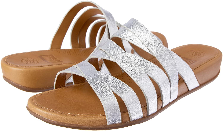 72da495a1 FitFlop Womens Lumy Leather Criss-Cross Slide Sandals  Amazon.com.au   Fashion