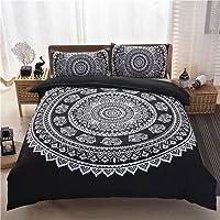 King Size Indian Mandala Hippie Duvet Quilt Cover with Pillow Case Bedding Set